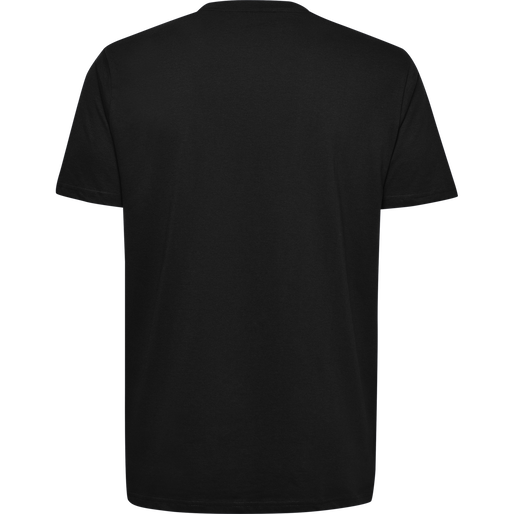 HUMMEL GO COTTON LOGO T-SHIRT S/S, BLACK, packshot