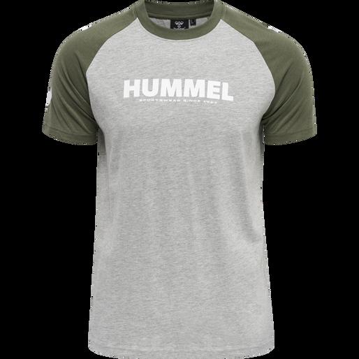 hmlLEGACY BLOCKED T-SHIRT, BEETLE, packshot