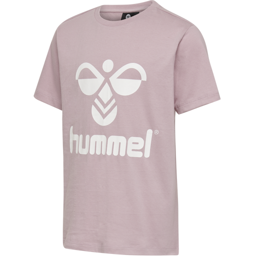 hmlTRES TEE SHIRT S/S, MAUVE SHADOW, packshot