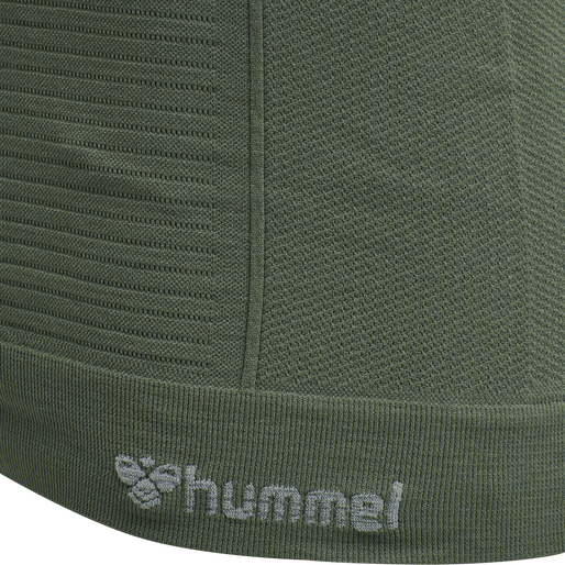 hmlSTROKE SEAMLESS T-SHIRT, THYME, packshot