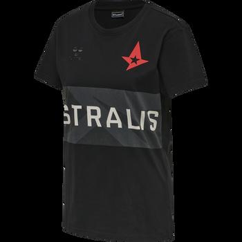 ASTRALIS T-SHIRT S/S WOMAN, BLACK, packshot