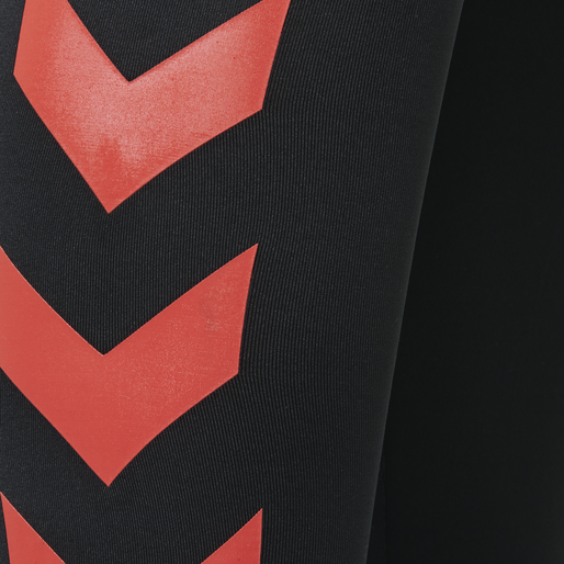 HMLLILY TIGHTS, BLACK/GRENADINE, packshot