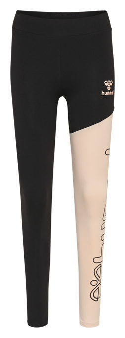 hmlZILLE TIGHTS, CLOUD PINK/BLACK, packshot