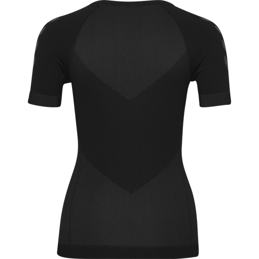 HUMMEL FIRST SEAMLESS JERSEY S/S WOMAN, BLACK, packshot
