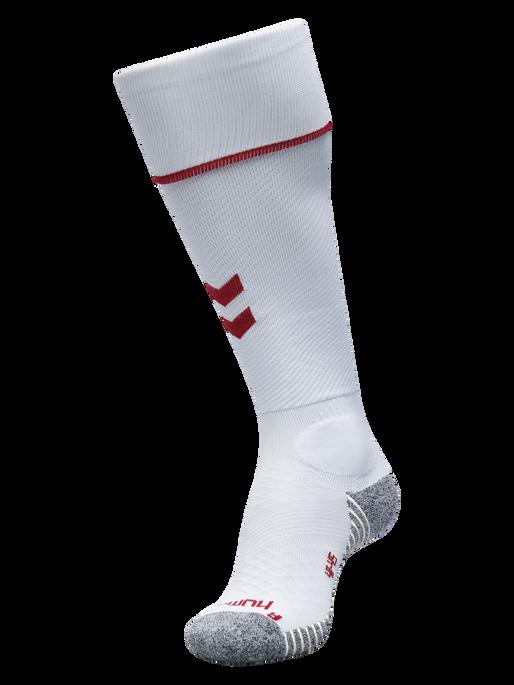 PRO FOOTBALL SOCK, WHITE/TRUE RED, packshot