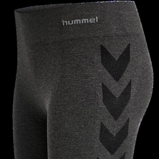 hmlCI SEAMLESS 3/4 TIGHTS, BLACK MELANGE, packshot