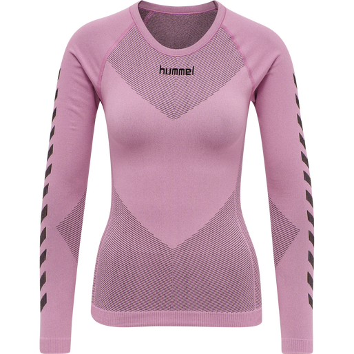 HUMMEL FIRST SEAMLESS JERSEY L/S WOMAN, COTTON CANDY, packshot