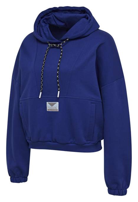hmlVIG LOOSE HOODIE, MAZARINE BLUE, packshot