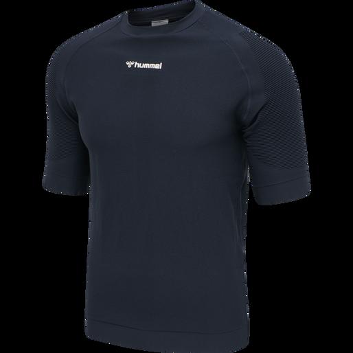 hmlCUBE SEAMLESS T-SHIRT, BLUE NIGHTS, packshot