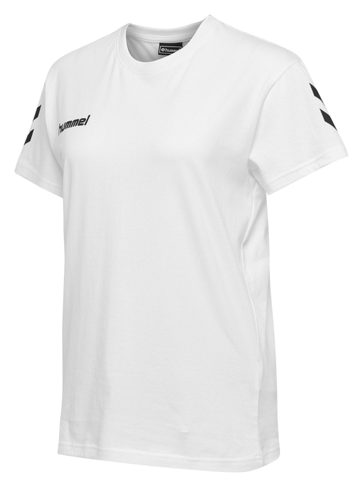HUMMEL GO COTTON T-SHIRT WOMAN S/S, WHITE, packshot