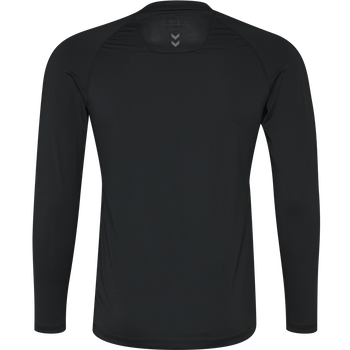 HUMMEL FIRST PERFORMANCE JERSEY L/S, BLACK, packshot