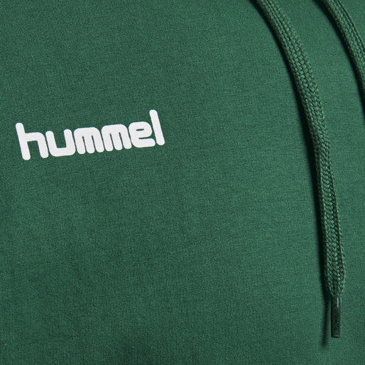 HUMMEL GO COTTON HOODIE, EVERGREEN, packshot
