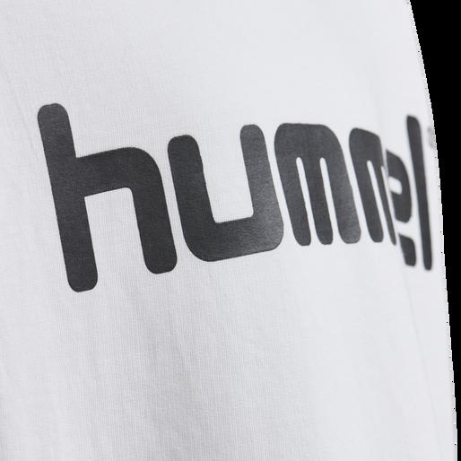 HUMMEL GO KIDS COTTON LOGO HOODIE, WHITE, packshot