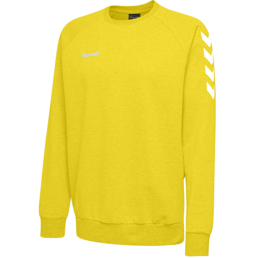 HUMMEL GO KIDS COTTON SWEATSHIRT, SPORTS YELLOW, packshot