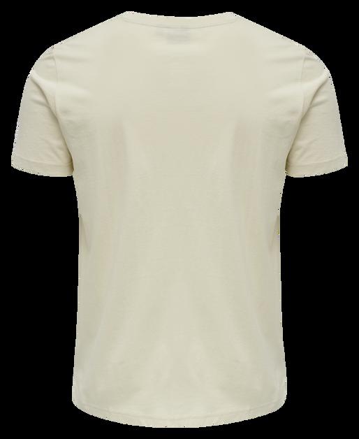 hmlACTON T-SHIRT, BONE WHITE, packshot