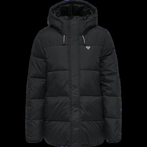 hmlMANDA PUFF COAT, BLACK, packshot