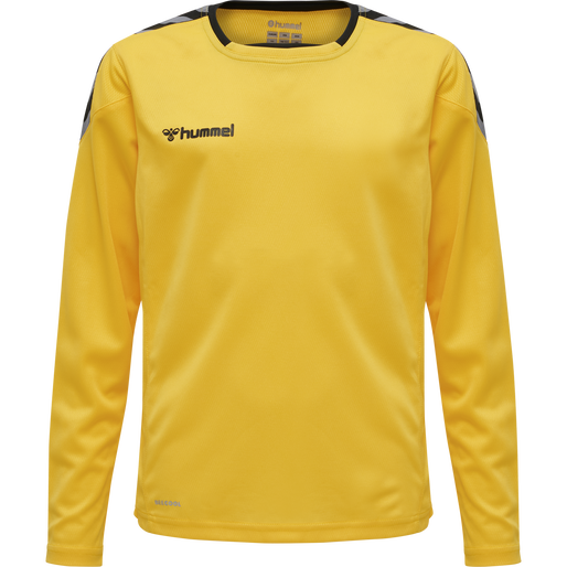 hmlAUTHENTIC KIDS POLY JERSEY L/S, SPORTS YELLOW/BLACK, packshot