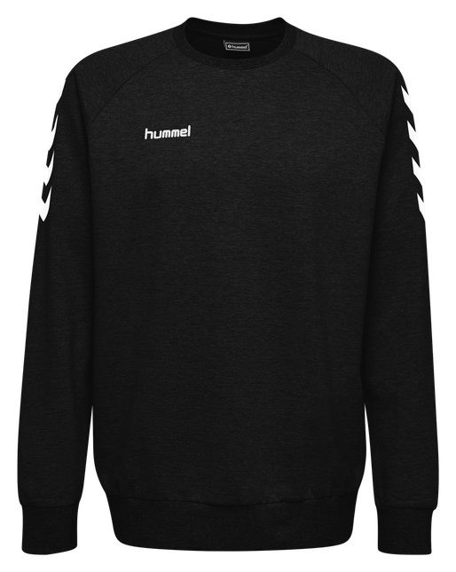 HUMMEL GO COTTON SWEATSHIRT, BLACK, packshot