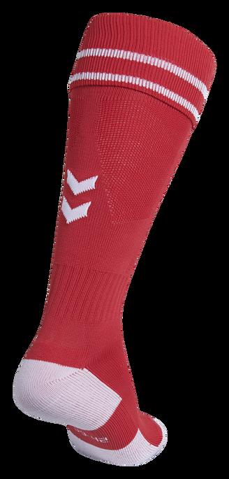 ELEMENT FOOTBALL SOCK , TRUE RED/WHITE, packshot