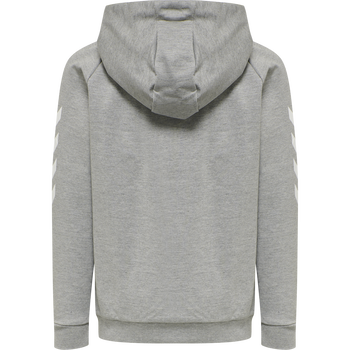 HUMMEL GO KIDS COTTON ZIP HOODIE, GREY MELANGE, packshot
