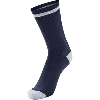 ELITE INDOOR SOCK LOW, NAVY/WHITE, packshot