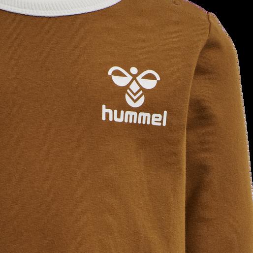 hmlMAUILINO T-SHIRT L/S, GLAZED GINGER, packshot