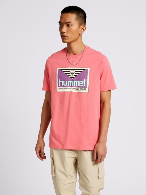 hmlFRESH T-SHIRT, TEA ROSE, model