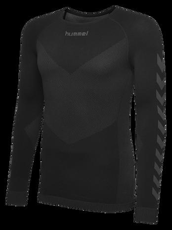 HUMMEL FIRST SEAMLESS JERSEY L/S , BLACK, packshot