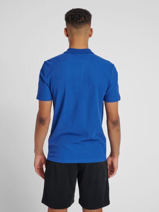 HUMMEL GO COTTON POLO, TRUE BLUE, model