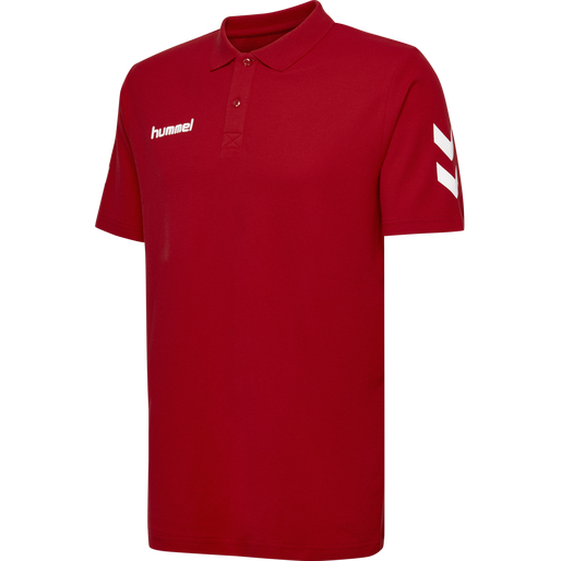 HUMMEL GO COTTON POLO, TRUE RED, packshot