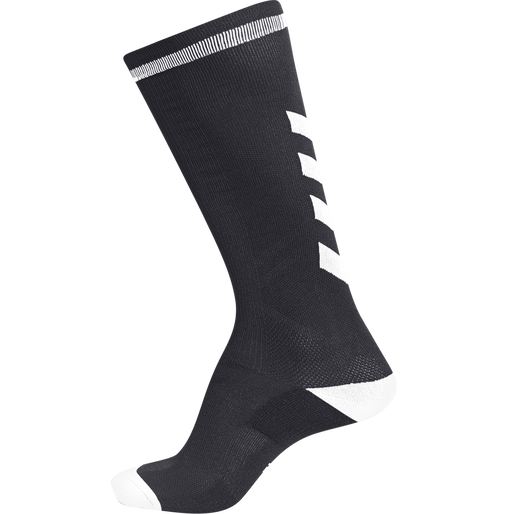 ELITE INDOOR SOCK HIGH, BLACK/WHITE, packshot
