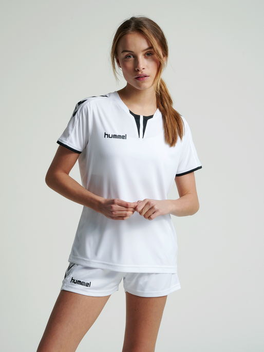 CORE WOMENS SS JERSEY, WHITE PR, model