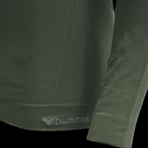 hmlSTROKE SEAMLESS T-SHIRT L/S, THYME, packshot