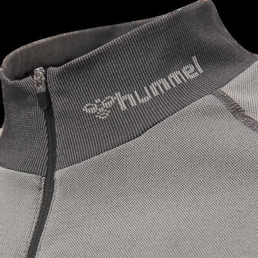 hmlRYDER SEAMLESS HALF ZIP, BONE WHITE/MAGNET, packshot