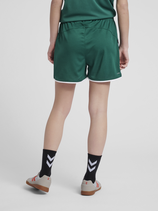 hmlAUTHENTIC POLY SHORTS WOMAN, EVERGREEN, model
