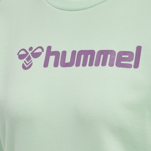 HMLNAOMI SWEATSHIRT, ACID LIME/SILVER, packshot