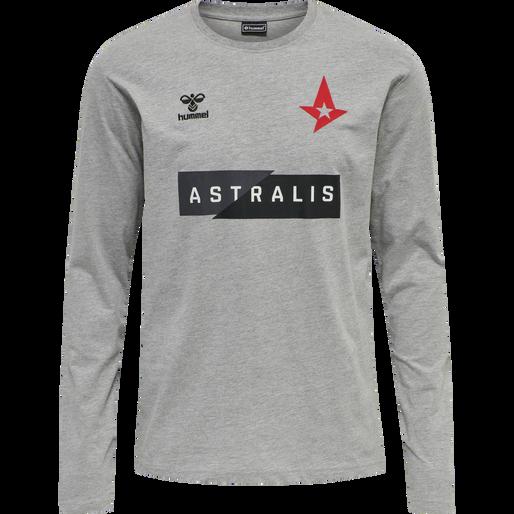 ASTRALIS T-SHIRT L/S, GREY MELANGE, packshot