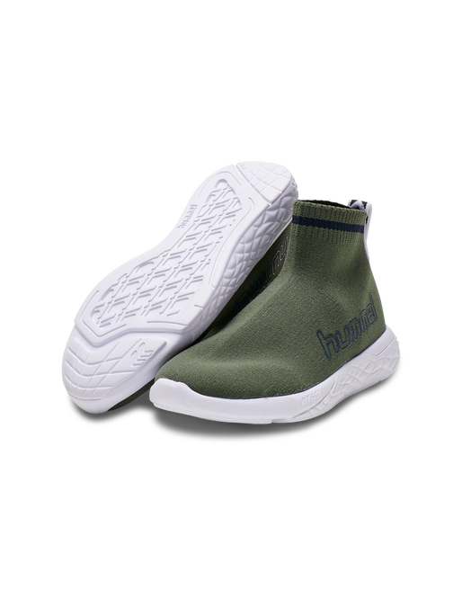 TERRAFLY SOCK RUNNER JR, DEEP LICHEN GREEN, packshot