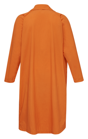 hmlWILLY TRENCH COAT, SHOCKING ORANGE, packshot