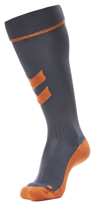 FUNDAMENTAL FOOTBALL SOCK, OMBRE BLUE/NASTURTIUM, packshot