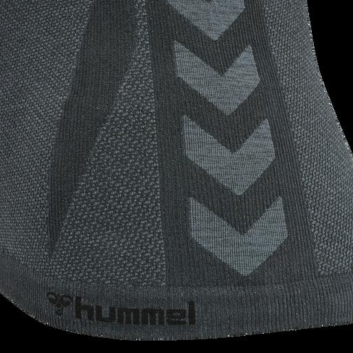 hmlCLEA SEAMLESS TOP, ASPHALT/QUIET SHADE MELANGE, packshot