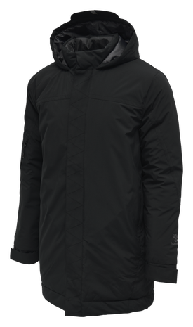 hmlNORTH PARKA JACKET, BLACK/ASPHALT, packshot