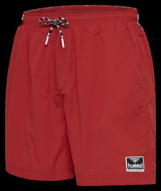 hmlVEJR OVERSIZED SHORTS, TRUE RED, packshot