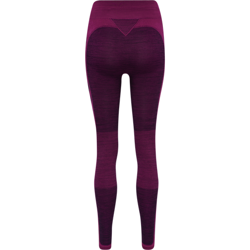 HMLCLEA SEAMLESS TIGHTS, PURPLE POTION MELANGE, packshot