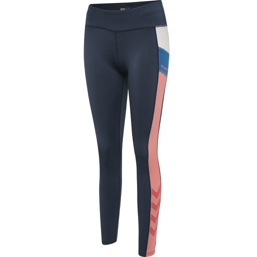 hmlSHARNI MID WAIST TIGHTS, BLUE NIGHTS, packshot