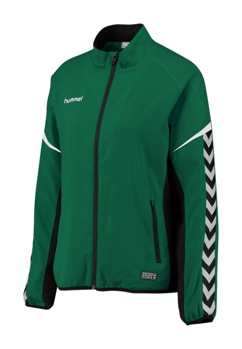 AUTHENTIC CHARGE MICRO ZIP JACKET WOMAN, EVERGREEN, packshot