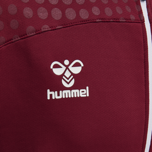 hmlLEAD ZIP POLY HOODIE, BIKING RED, packshot