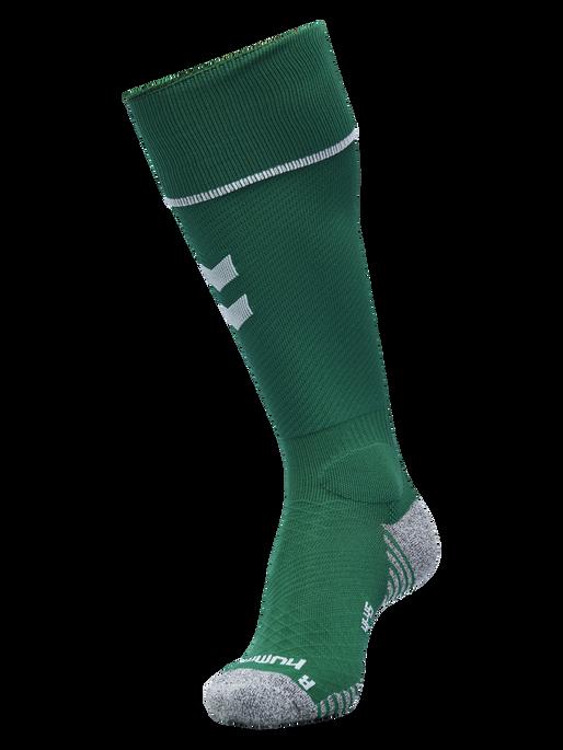 PRO FOOTBALL SOCK, EVERGREEN/WHITE, packshot