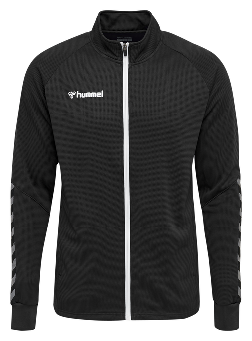 hmlAUTHENTIC POLY ZIP JACKET, BLACK/WHITE, packshot