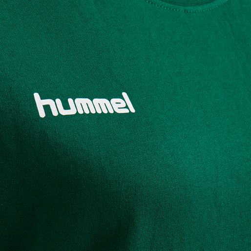 HUMMEL GO COTTON SWEATSHIRT WOMAN, EVERGREEN, packshot